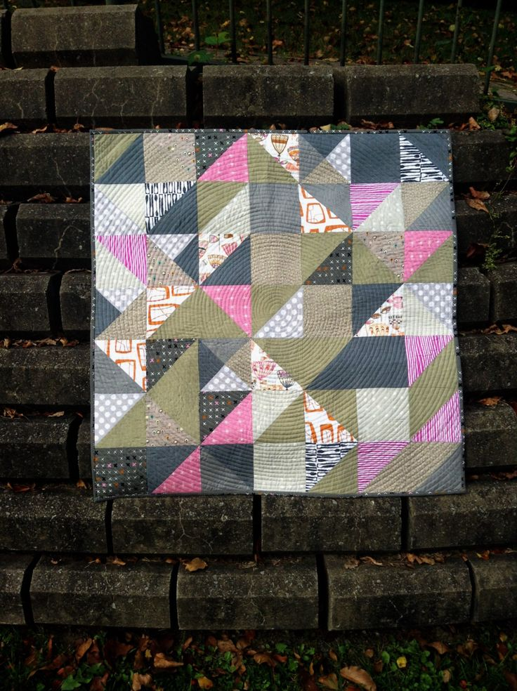 Gorgeous and soft baby modern baby quilt by LethargicLass on Etsy
