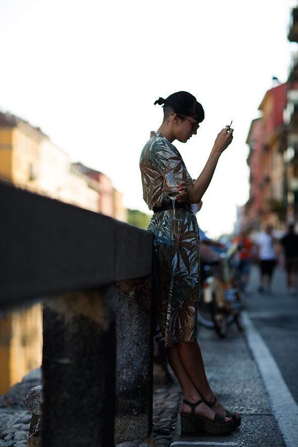 Pretty print. The Sartorialist.Http Www Thesartorialist Com, Milan, Inspiration, Dresses, Platform Shoes, Street Hair, Streethair, The Sartorialist, Prints