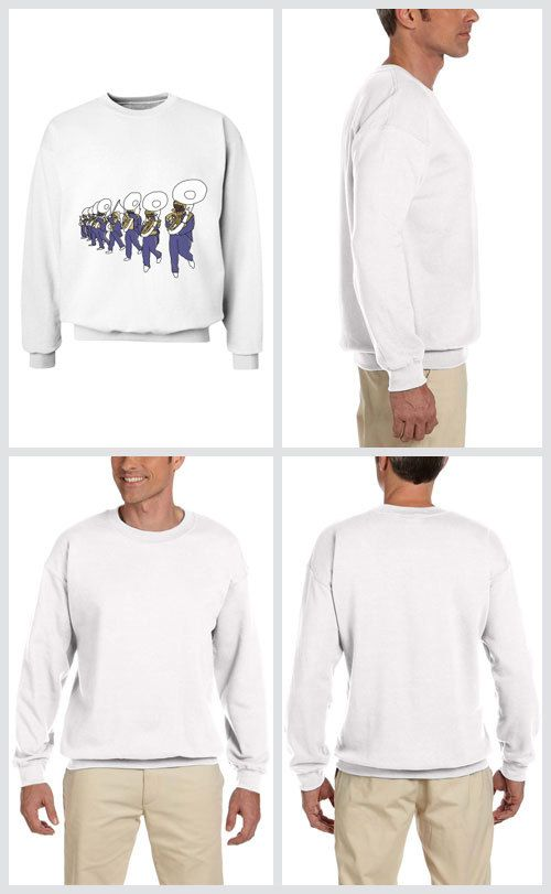 I Came for the Bands! - Sweatshirt (unisex)  The best part of Mardi Gras parades are the amazing marching bands! Including St. Aug pictured here!