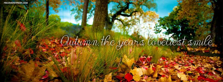 Autumn The Years Loveliest Smile Facebook Cover Wallpaper
