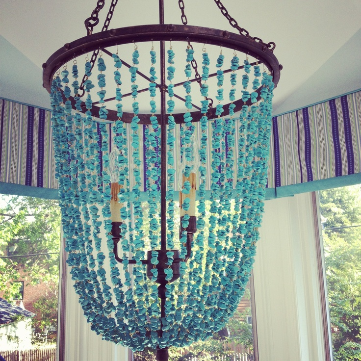 Kitchen:  Currey & Co chandelier and Duralee curtains