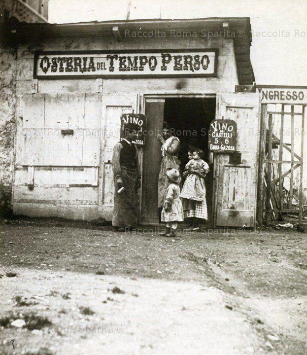 Foto storiche di Roma - Le osterie fuori porta - Osteria del Tempo Perso Anno: 1895 'ca