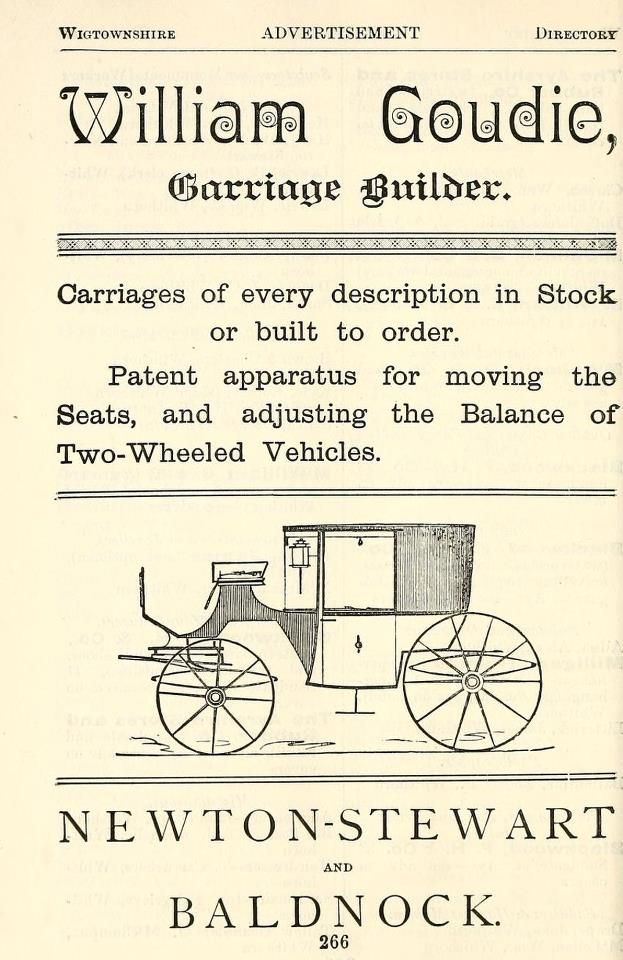 Old advert from 1893