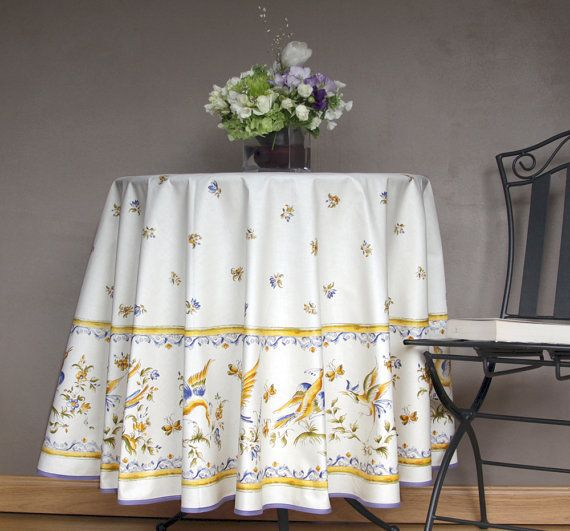 70 inches Round Tablecloth Provence Moustier by SoleildeProvence, $84.00