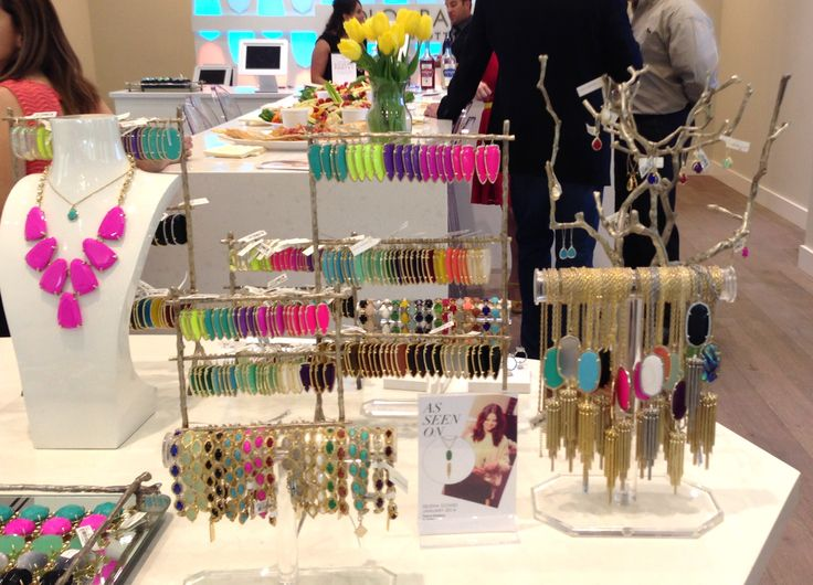 This is how the Kendra Scott store displays their products. You can find the holders at your local Marshalls or craft store.
