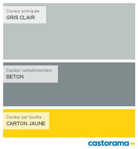 Castorama nuancier peinture mon harmonie peinture gris for Ampoule de couleur castorama