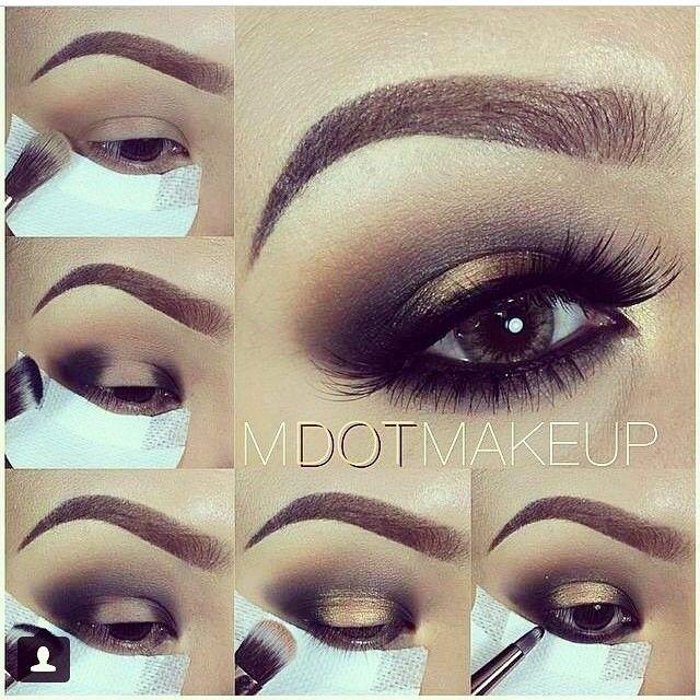 Black and gold drama smokey eye makeup tutorial #evatornadoblog