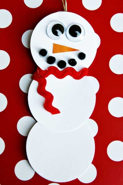 DIY Snowman Paper Craft from @See Vanessa Craft