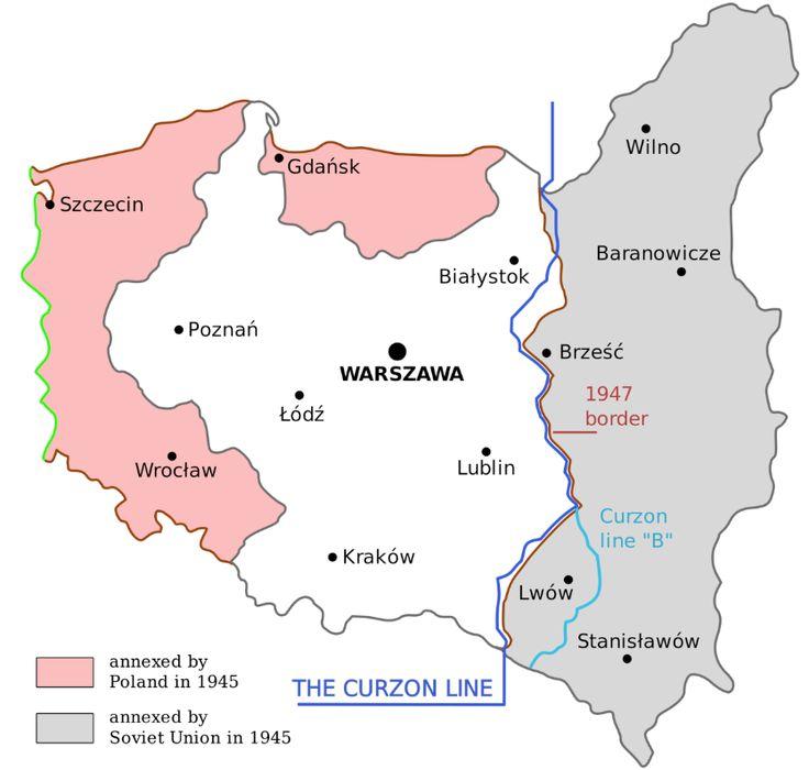 Anexiones de Polonia, Alemania, Rusia en 1945