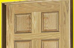 Mastercraft Oak 6 Panel Raised Prehung Interior Door From Menards Our Home Pinterest