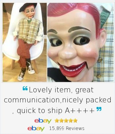 "Look who's coming to dinner! Harder to find 1963 Jerry Mahoney Ventriloquist Dummy Doll Puppet . Has handpainted features, moving eyes and mouth AND head turns. He even comes with a bonus set of PJ's AND a ""how to"" book."