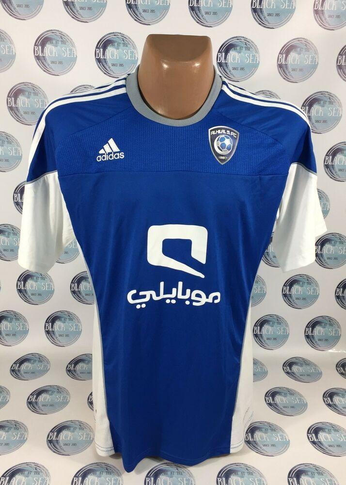5d4d1b41ae7 Al-Hilal Al Hilal Club 2010 2011 FOOTBALL SOCCER SHIRT JERSEY FORMOTION  ADIDAS L  adidas  AlHilal