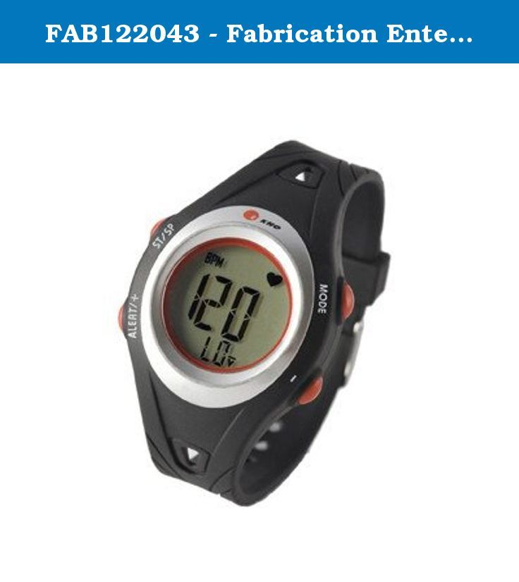 FAB122043 - Fabrication Enterprises, Inc. Ekho FiT-19 heart rate monitor. Ekho Heart Rate monitor watches come standard with watch face and features, heart rate monitor transmitter, and manual. The FiT19 offers Continuous heart rate, Target Zone, Out of zone visual alarm for high/low target zone, Audible alarm OFF mode, 15 laps, Back light, Time, Date, Stopwatch/Exercise time, Water Resistant, Large display, ECG Accurate, User changeable batteries, Interfaces with heart rate interactive...