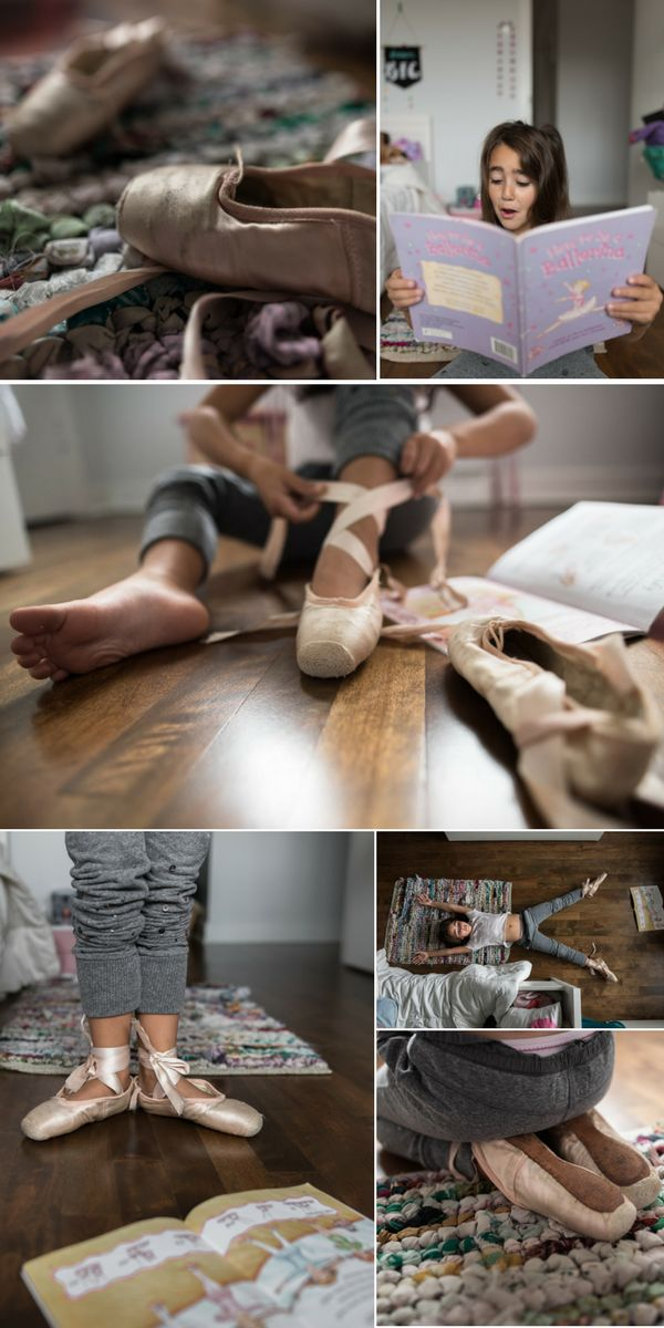 Family documentary photography, storytelling the day of a ballerina through photos.