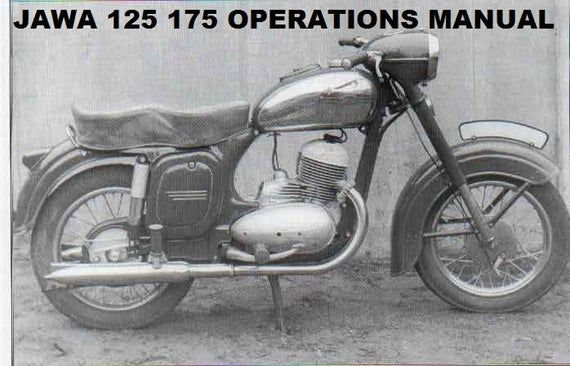 Jawa Sport Cz 125 175 Motorcycle Parts Manuals