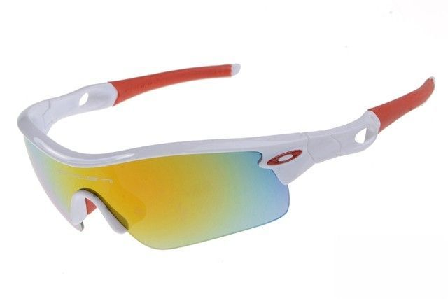 Oakley Radar Pitch sunglasses white / fire iridium - Up to 86% off Oakley sunglasses for sale online, Global express delivery and FREE returns on all orders. #Oakley #sunglasses #cheapoakleysunglasses #mensunglasses #womensunglasses #fakeoakeysunglasses