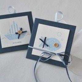 μπομπονιέρες βαπτισης για αγόρι με θέμα καραβάκι, ψαράκι, θάλασσα - craftroom