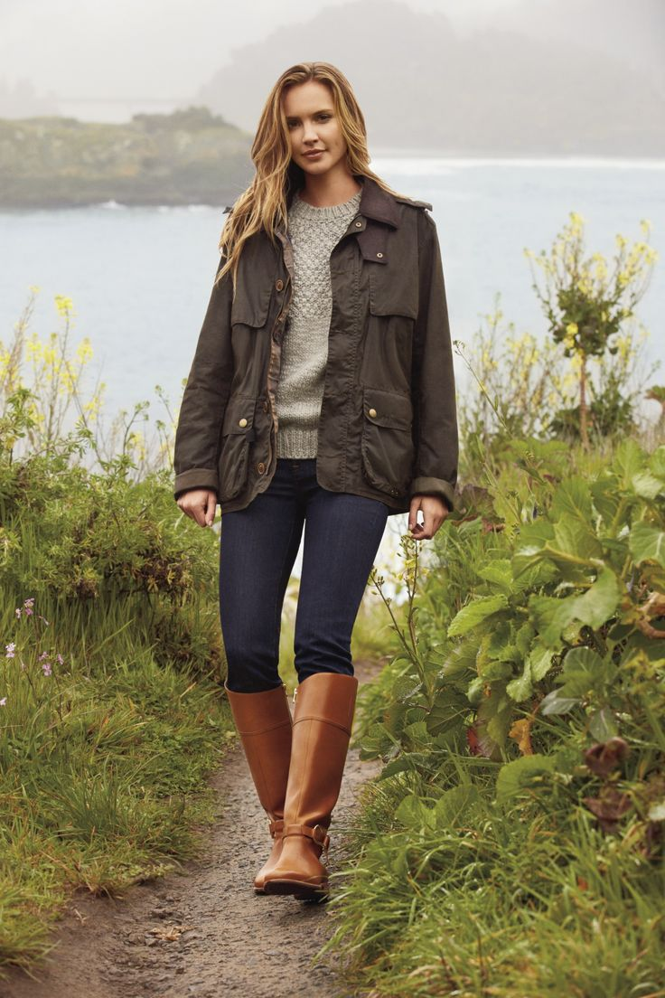 ~feminine style {fall & winter}~  Sperry Sable boot & olive jacket   LOVE the jacket!!