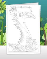 Image result for emu colouring in sheets