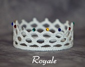 PATTERN - Crochet Crown - for a little princess or a little prince :)