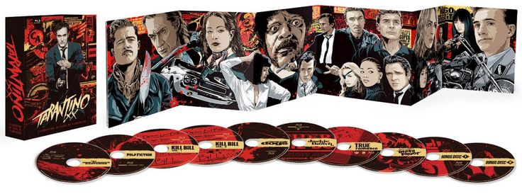 5. Tarantino XX: 8-Film Collection Tarantino XX contains eight films chosen by Tarantino to illustrate the first 20 years of his career, featuring the films that helped define his early success, including Reservoir Dogs, True Romance, Pulp Fiction, Jackie Brown, Kill Bill Vol. 1, Kill Bill Vol....