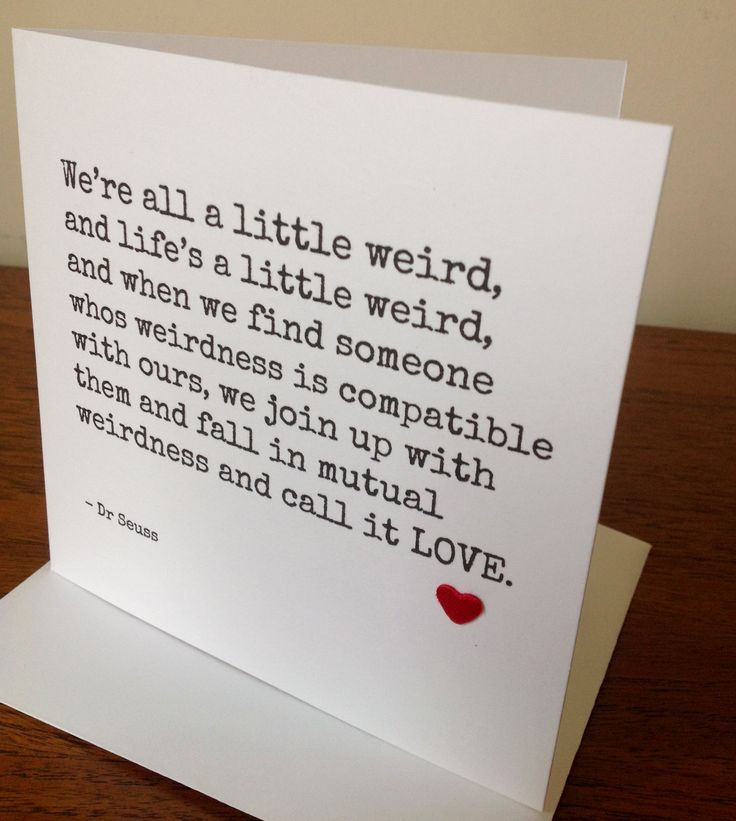 Quirky birthday anniversary valentines card for the one