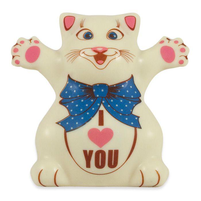 """Подарки для женщин - Шоколадный котЭ """"I love you"""""""