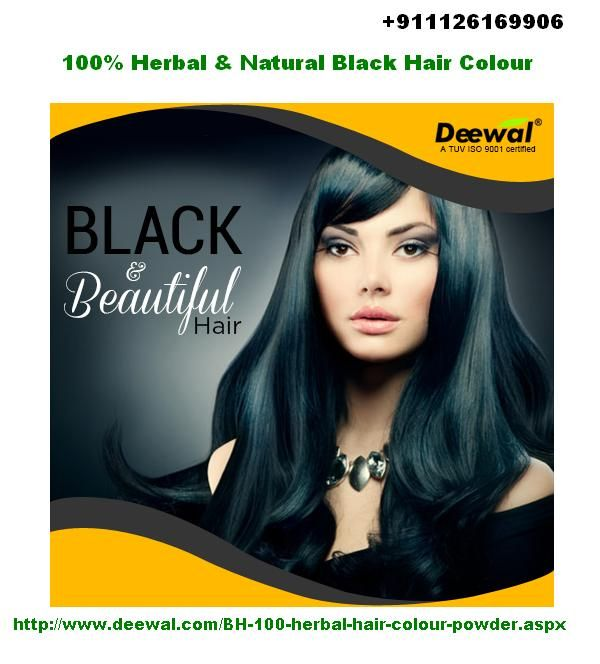 Buy Deewal natural black hair colour online at budget price in India. Buy now online http://www.deewal.com/BH-100-herbal-hair-colour-powder.aspx or call us at '+911126169906 for further query.