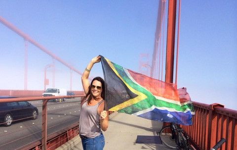 South Africa proudly on display at the Golden Gate Bridge