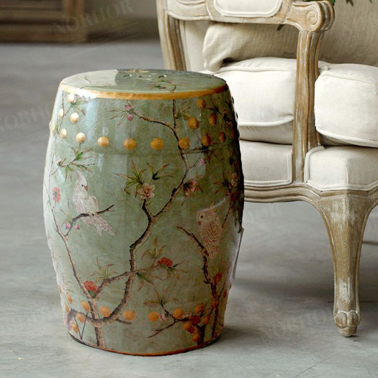 Modern chinese tall parrot ceramic stool for garden and  home furniture accessories $123.38: