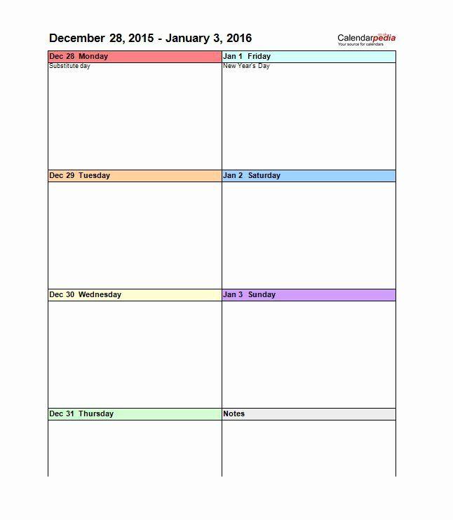 Weekly Schedule Template Pdf Inspirational 26 Blank Weekly