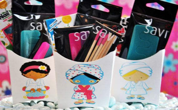 Spa Party Favors -  Birthday Party Favors - Sleepover Party Favors -Glamorous Sweet Events on Etsy, $15.00