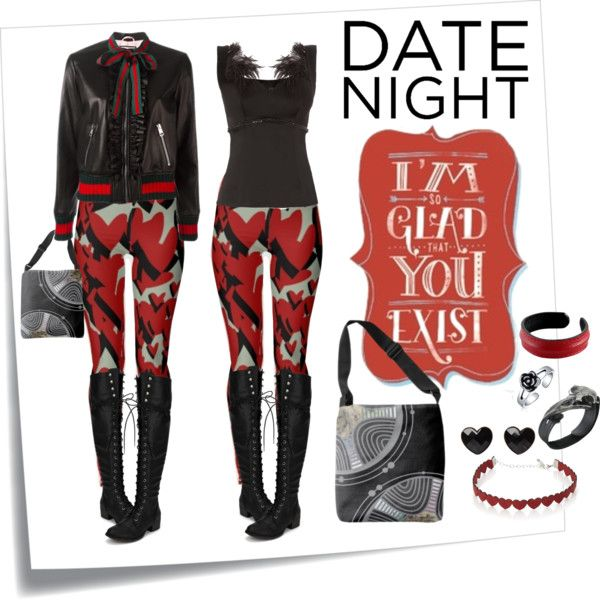 Dark Cupid by ubm-store on Polyvore featuring Nicole Coste, Gucci, Simons, NOVICA, Bling Jewelry, Post-It and DateNight