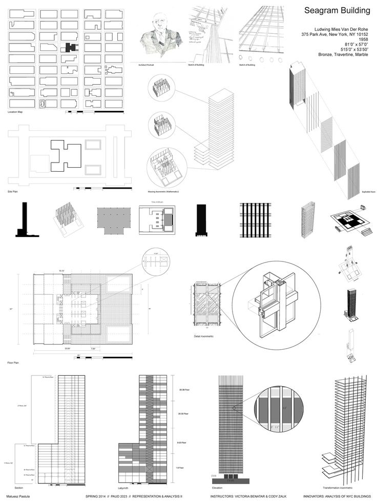 27 best boswell studio images on pinterest architectural for Seagram building ppt