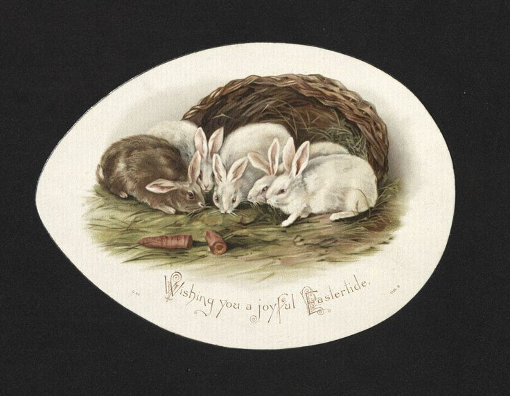 'Wishing you a joyful Eastertide...' Easter Card. 19th century