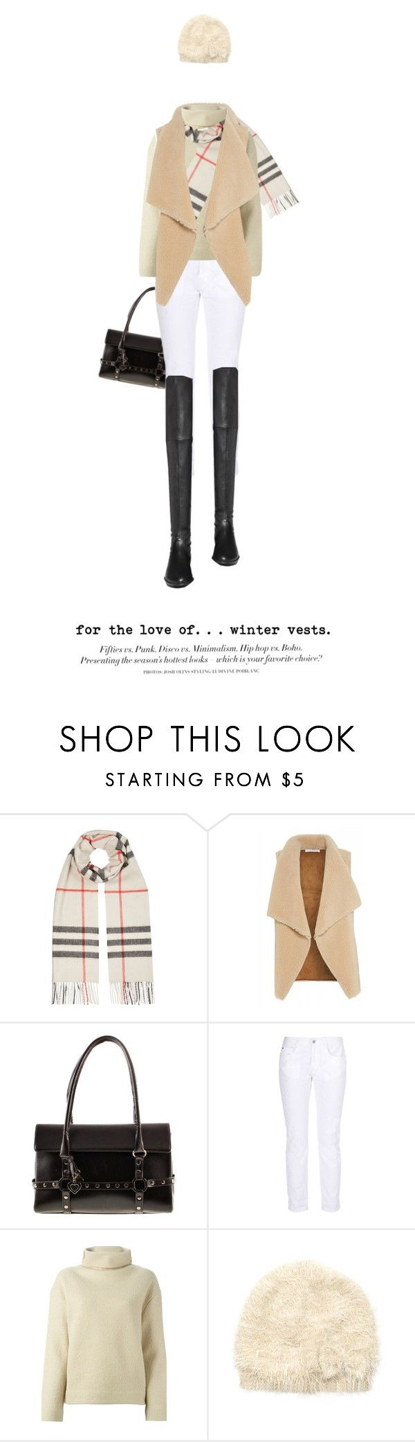 """""""in-vested"""" by maura717 ❤ liked on Polyvore featuring Burberry, Velvet by Graham & Spencer, Stuart Weitzman, STELLA McCARTNEY, Étoile Isabel Marant, Monsoon and H&M"""