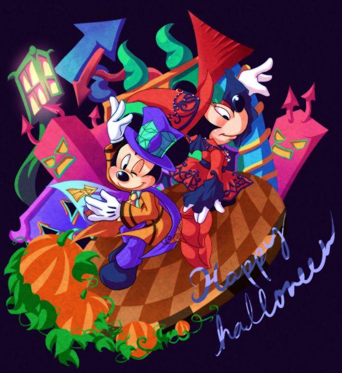 disney halloween by oni0520 - Mickey Minnie Halloween