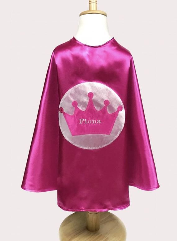 Personalized Princess Royal Cape & Mask / Girl Cape