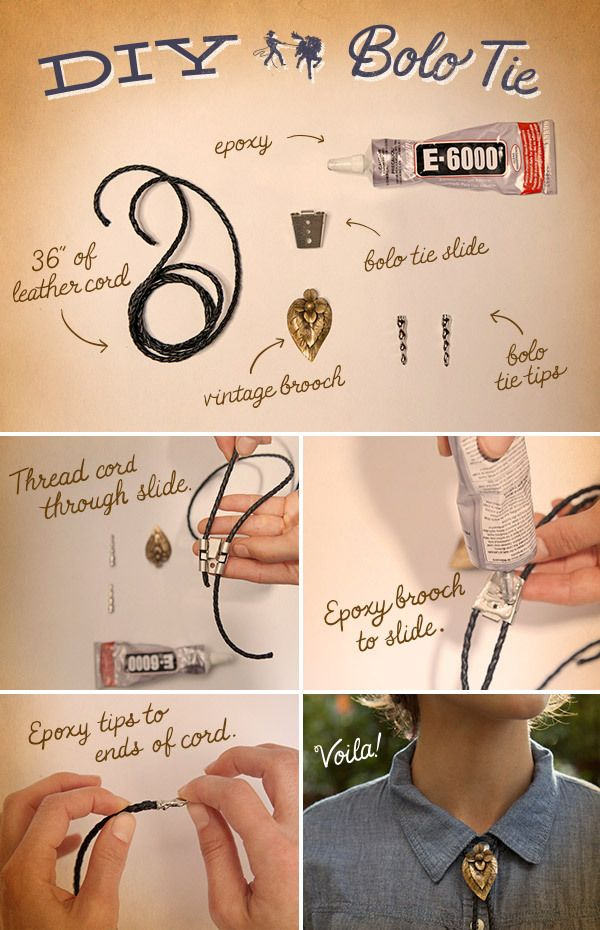 DIY Western Bolo Ties for ladies & gents!