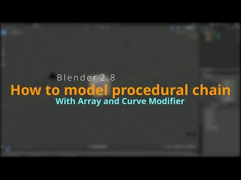In this tutorial I am going to model a procedural chain with