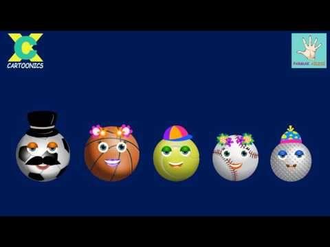 Cartoonics Parmak Ailesi Türkçe Toplar - Çocuklar İçin Parmak Ailesi