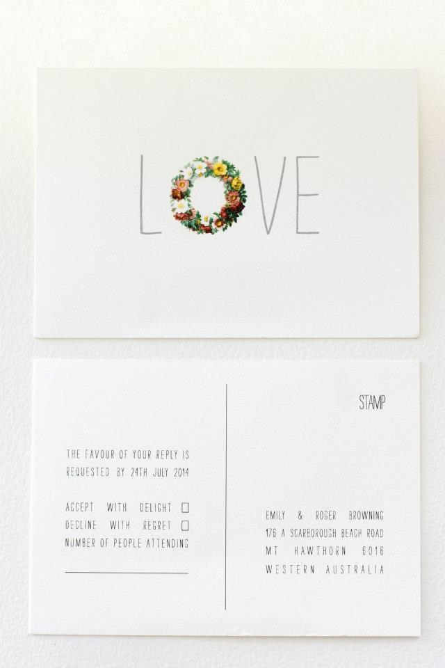 LOVE, RSVP Postcard #wedding #invitation #design