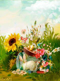 Кролик в банке - анимация на телефон №1378902