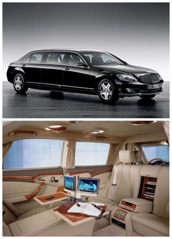 The $1 million S-600 Pullman is a luxury dream. It can also withstand heavy gunfire and mini explosives. Perfect for gangsters, CEO's and World leaders!