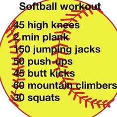 Softball workouts for any fellow softball players.