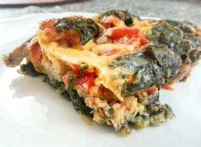 paleo breakfast casserole baked egg and spinach