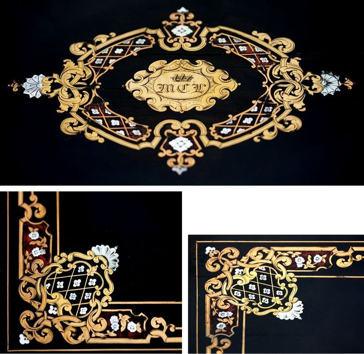 """HUGE c.1830 Antique French Boulle Chest, Box, 24"""" x 17"""" Cashmere or from antiques-uncommon-treasure on Ruby Lane"""