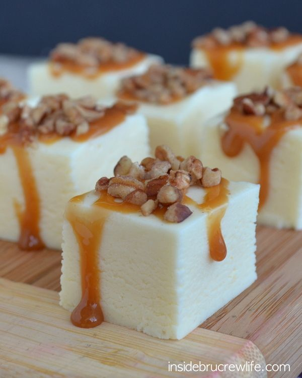 Turtle Cheesecake Fudge - easy cheesecake flavored fudge with caramel and pecans
