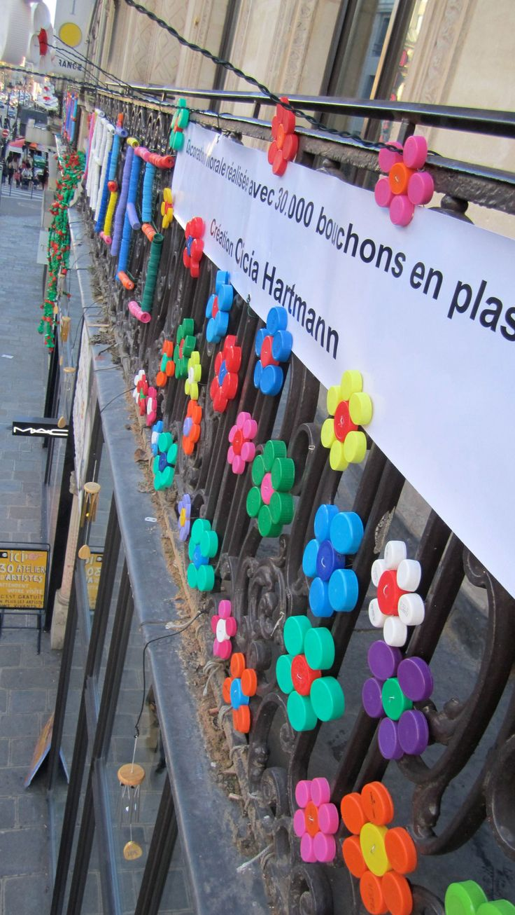 """"""" 59 Rivoli """" Paris 1er - Plasticienne, Recyclage artistique, Up cycling, Art visuel, Bouchon en Plastique,"""