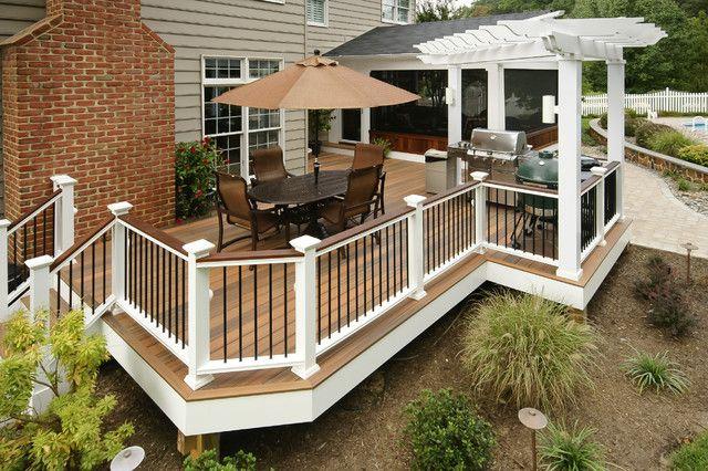 deckorators Exterior Traditional with Annapolis decks arbor Azek azek pvc decking Baroque style